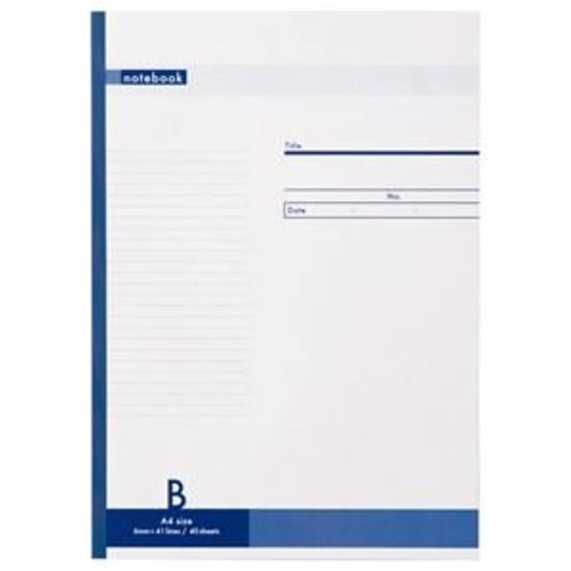 (まとめ) TANOSEE ノートブック A4 B罫6mm 40枚 1冊 【×10セット】
