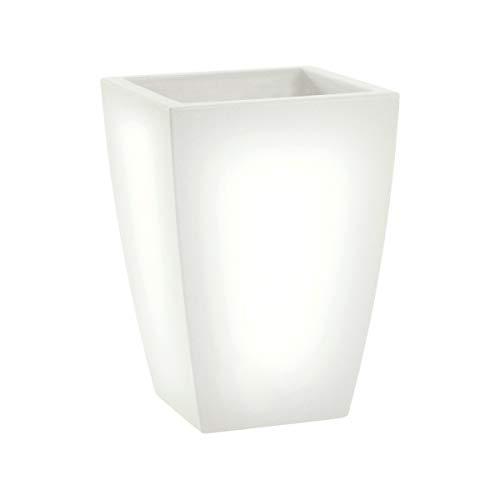 JASM (Bianco Neutro) Vasi Luminosi da Giardino   Vaso luminoso da interno ed esterno   Vasi a led a risparmio energetico 100% Made in Italy