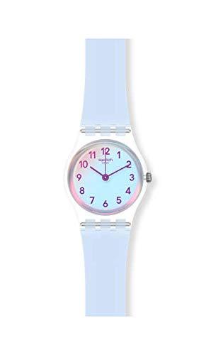 Swatch Reloj Analógico para Mujer de Cuarzo con Correa en Silicona LK396