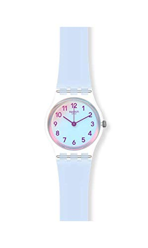 Swatch Damen Analog Quarz Uhr mit Silicone Armband LK396