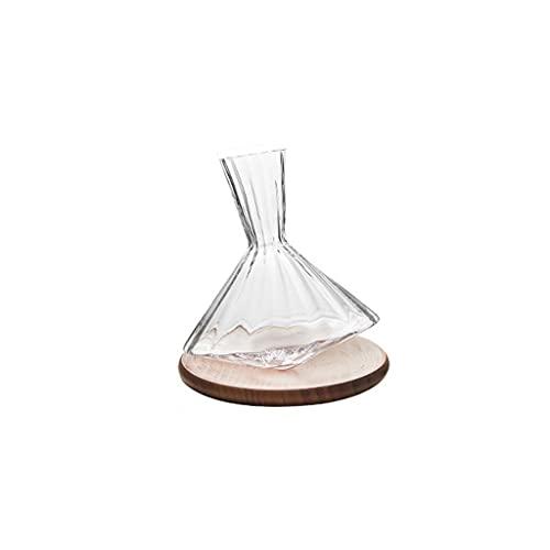 XIAOSAKU Tumbler Rojo Vino Decantador Hogar Creativo Gyro Rotatable Línea de Plomo Fashion Fashion Cristal DE Cristal DE Cristal DE Cristal (Size : B)