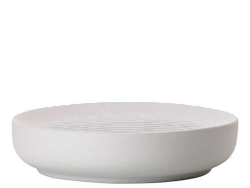 Zone Denmark Ume Seifenschale/Seifenhalter/Seifenablage, Steinzeug mit Soft Touch-Beschichtung, hellgrau (Soft Grey)