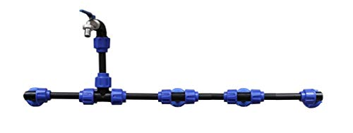 VOXTRADE Juego de conexión para tanques de agua de lluvia IBC con cuello de cisne (juego para 2 – 6 tanques) (4)