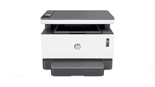 HP Neverstop Laser 1201n – Impresora Multifunción con depósito de tóner para imprimir hasta 5000 páginas (20 ppm A4, copia, escanea, Ethernet, USB, HP Smart App), Color Blanco