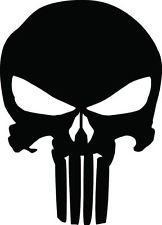 2stk The Punisher Logo Skull Aufkleber Sticker Decal 7x10cm Logo Die Cut Notebook Laptop