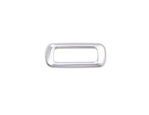 Accessoire intérieur de véhicule Automatique, pour Stelvio 2017, Garniture de Couvercle de Cadre de mémoire de siège ABS en Plastique chromé Mat d'argent, 1 pcs/Set