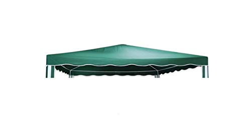 Vetrineinrete Copertura ricambio per gazebo 290x290 cm impermeabile idrorepellente da giardino terrazzo tendone in poliestere 206410 (Verde) X9