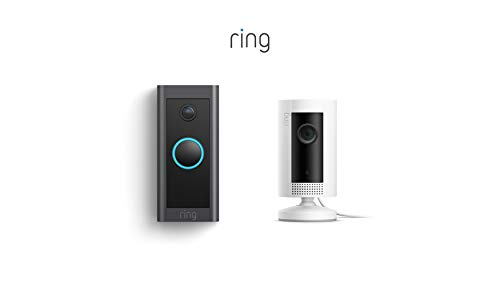 Ring Video Doorbell Wired bundle with Ring Indoor Cam (White)