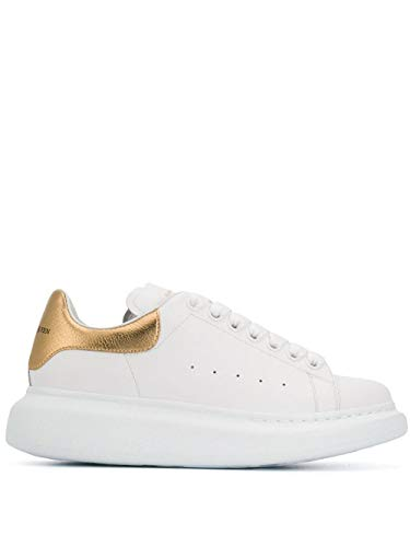 Alexander McQueen Luxury Fashion Damen 553770WHFBU9075 Weiss Leder Sneakers | Jahreszeit Permanent