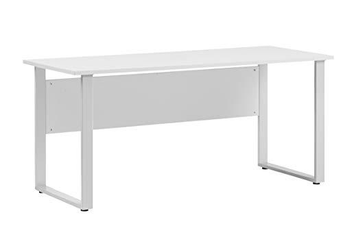Möbelpartner Denver Schreibtisch, Lichtgrau, 75 cm tief