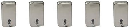 Janico Vertical 引き出物 Soap Dispenser - Stainless 市販 Steel Pack 5-