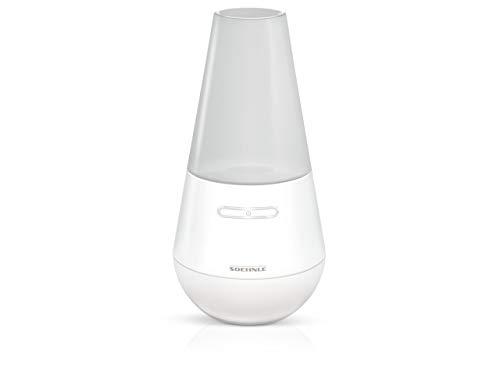Soehnle Design Aroma Diffuser Valencia in Weiß mit Ultraschallvernebelungstechnik, Zerstäuber für eine Beduftung mit Wasser und Duftöl, Diffuser mit Farbwechsel