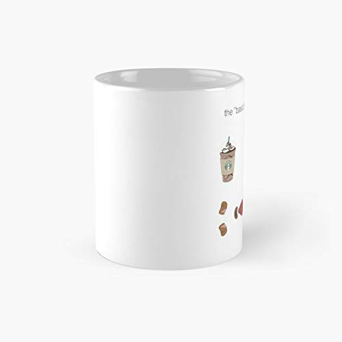 Basic Bitch Starter Pack Boots Candle Dog Coffee Taza clásica   El mejor regalo divertido tazas de 325 ml