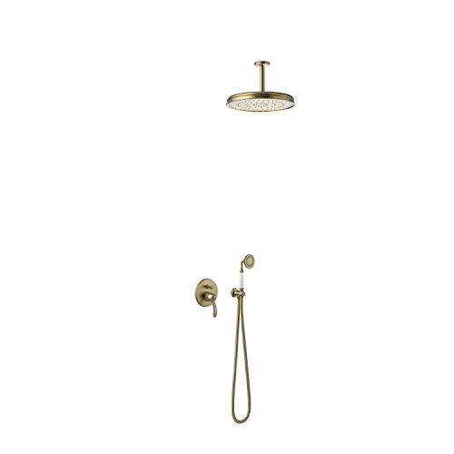 TRES-CLASIC Kit de ducha monomando empotrado con cierre y regulación de caudal. · Cuerpo empotrado