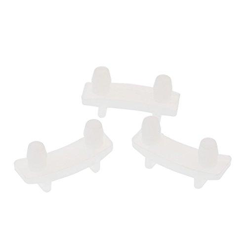 Ersatzteile für 900 W/600 W Entsafter Kompatibel mit Top Base Gear Gummibuchsen, Transparent 3er Pack