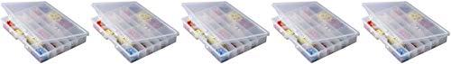 Plano Molding 5324 Portable Organizer 24-Fixed Compartments, Premium Small Parts Organization 5 Pack