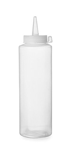 HENDI Spenderflasche, Easy Squeeze, Stückzahl: 1, Spritzflaschen, Squeezeflasche, 0,35L, ø55x(H)205mm, Polypropylen, Transparant 557822, transparent, 0,35 L