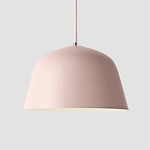 Accesorio de iluminación Nórdico creativo rosa colgante luces oficina colgante lámpara moderna hanglamp loft diseño colorido cocina comedor café restaurante lámparas decoración del hogar ( Size : M )
