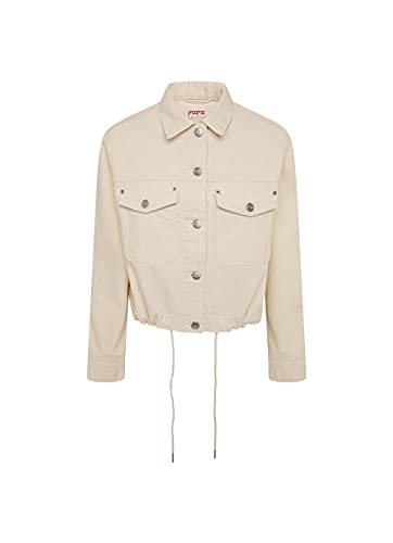 Pepe Jeans - Chaqueta Vaquera Tiffany PL401930 - Cazadora Vaquera Cropped (Corta) EN Tono Beige para Mujer (M)
