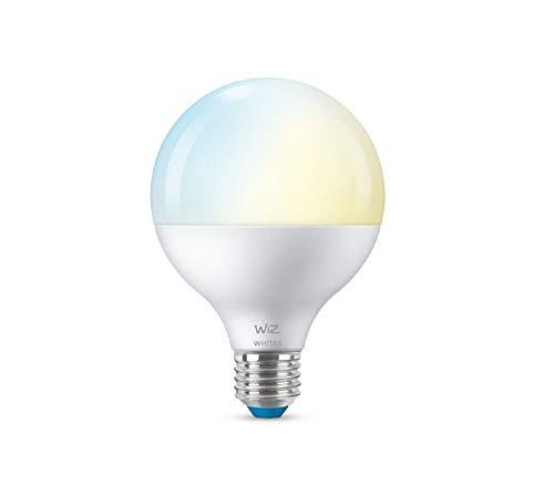 WiZ - Lampadina smart a globo G.E27 LED luce bianca calda e fredda, regolazione luminosità e accensione Wi-Fi app Alexa Siri GoogleAssistant, 1055 lm 2700-6500 K
