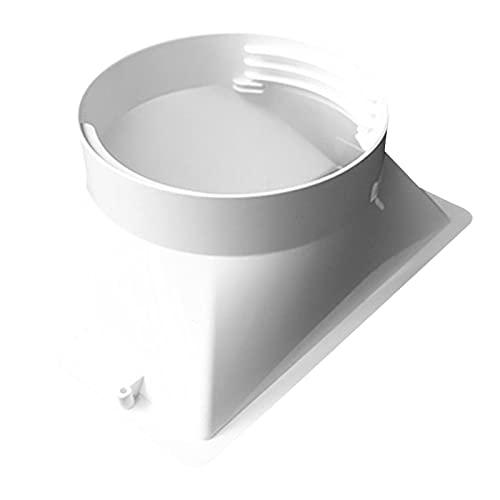 Tengan Adaptador de Manguera de Escape de 13 cm para Aire Acondicionado portátil Conector de Tubo de Manguera de Escape para Interfaz Rectangular de Tubo de Escape de Aire Acondicionado móvil Way