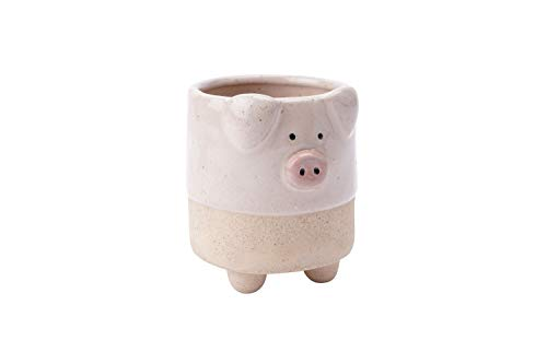 CGB Giftware Stoneware Pink Pig Planter | From Loft Collection | Decorative | Homeware | Plants | GB05232