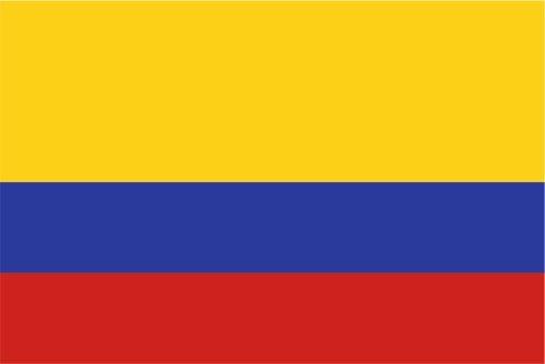Kiwistar Autoaufkleber Sticker Fahne Flagge Aufkleber 10cm Kolumbien laminiert sehr Lange Haltbar