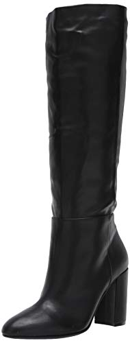 Chinese Laundry Women's KRAFTY Knee High Boot, Black Smooth, 9.5 M US
