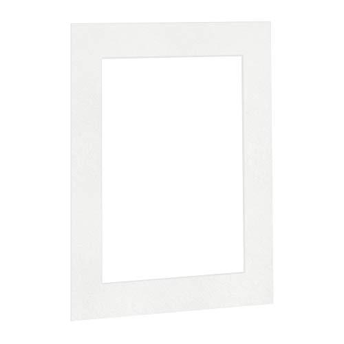 Passepartout Reinweiß in 50x60 cm Außenmaß mit Ausschnitt für Bildgröße 30x40 cm