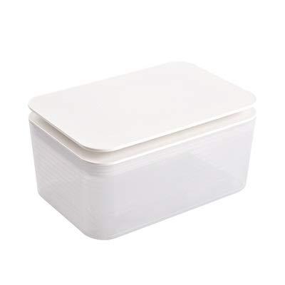 Yllang Cajas de Tejidos claros Sellado del bebé de la Caja de Papel de Almacenamiento de Soporte de plástico señoras del hogar Desmaquillador Caja Toallitas (Color : Blanco, Size : 1)