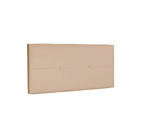 DHOME Cabecero de Polipiel o Tela AQUALINE Pro cabeceros Cabezal tapizado Cama Lujo (Polipiel Beige, 95cm (Camas 70/80/90))