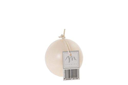 arredo casa - Set n. 12 candele sfera opaca avorio 8 dm