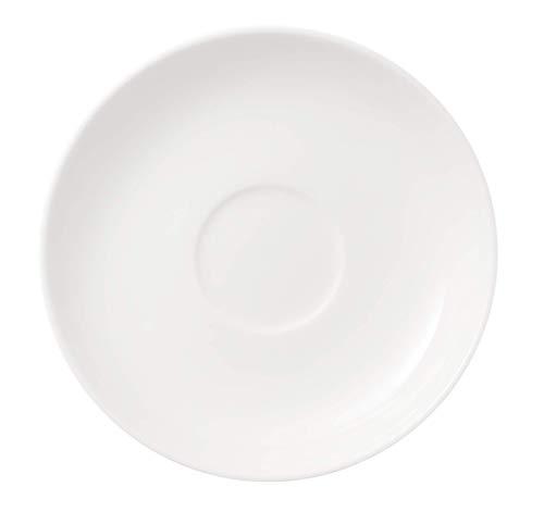 Villeroy & Boch Twist White Mokka-/Espresso-Untertasse, 12 cm, Premium Porzellan, Weiß