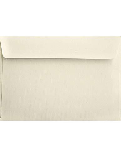 100 Ecru gerippte Briefkuverts DIN C5 Haftklebung gerade Klappe ohne Fenster 162x229 mm 120g Aster Laid Ivory festliche C5 Briefumschläge Elfenbein Briefhüllen für Unterlagen Dokumente Broschüren