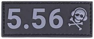 G-CODE Caliber Patch - Grey on Black - (5.56)