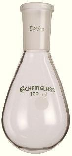 Chemglass Flask, Recovery, 100mL, 24/40, - CHMGLS