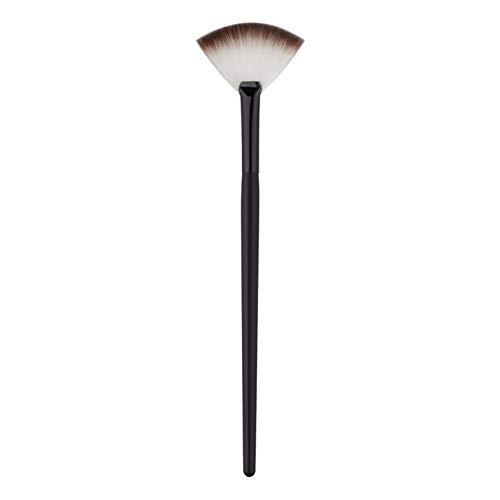 JUNGEN Brochas de maquillaje Pincel de maquillaje de abanico Cepillo de rubor Cepillo de polvo disperso Pincel de cosméticos con Quitar el exceso de polvo (Negro)