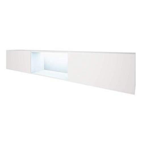 Selsey Leo TV Board/ TV Schränke in Weiß Hochglanz hängend modern 300 cm