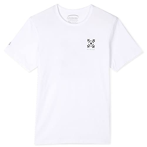 Oxbow N1TIPPY Tee shirt manches courtes graphique Homme, Blanc, L