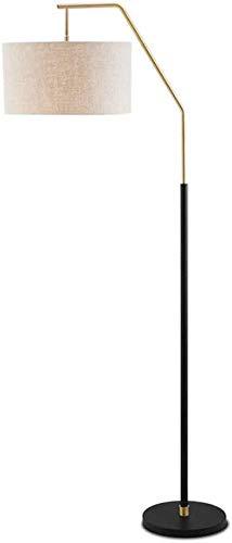 GLXLSBZ Lámpara de pie de Lino Ajustable con luz de Lectura por Acentos Ligeros Lámpara de pie Moderna para Sala de Estar/lámpara de Oficina Que se Puede Levantar