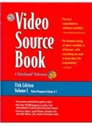 Video Source Book: A Guide to Programs Currently Available on Video in the Areas of: Moives/Entertainment/ General Interest/ Eucation Sports/Recreation/ Fine Arts/Health