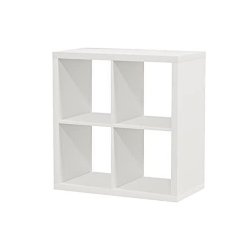 Ikea Bücherregal Kallax, Weiß, ideal für Körbe oder Kisten