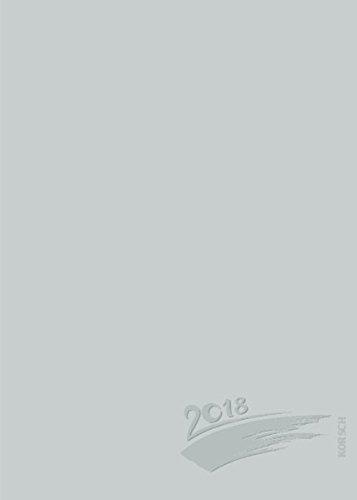 Foto-Malen-Basteln Bastelkalender A5 silber 2018: Fotokalender zum Selbstgestalten. Aufstellbarer do-it-yourself Kalender mit festem Fotokarton und edler Folienprägung