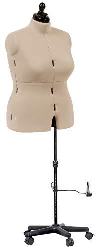 Dritz My Double Designer Adjustable Dress Form, Full-Figure, Ivory