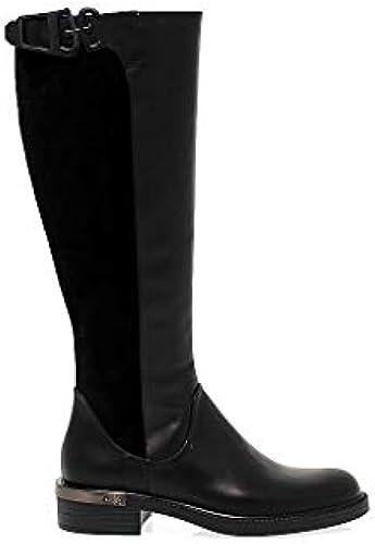 Fabi Damen 3758schwarz SchwarzLeder Stiefel