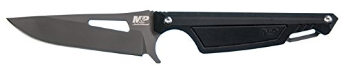Smith & Wesson M&P Shield 7.5in S.S. Full Tang Fixed Blade Knife with 3.25in Clip Point Blade and Nylon Handle for Outdoor, Tactical, Survival and EDC