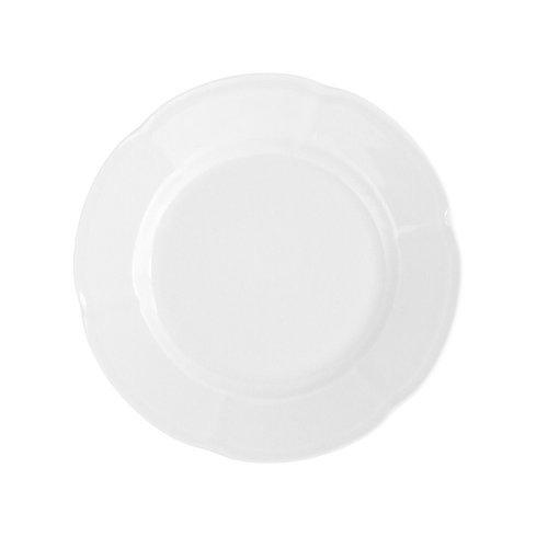 Assiette dessert 19 cm ronde plate en porcelaine blanche - Mélisse