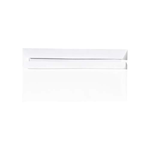 Briefumschläge DIN lang, 70/75 g/qm, mF, weiß, 11x22cm, SK, 1000St