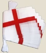 Angleterre St. George Cross Flag Polyester Guirlande 6m