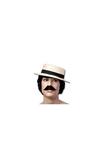 P'tit Clown 27010 - Sombrero de paja tipo canotier para adulto, color beige